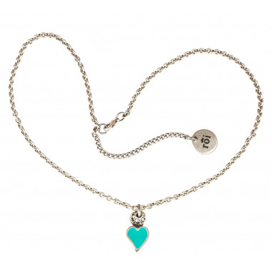 Collana con cuore mini blue tiffany